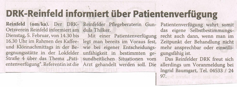 Vortrag Patientenverfügung